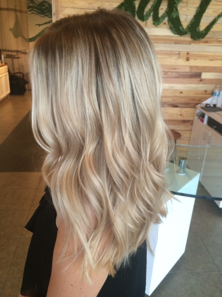 Balayage Ombre Blonde Icy Blonde Long Hair