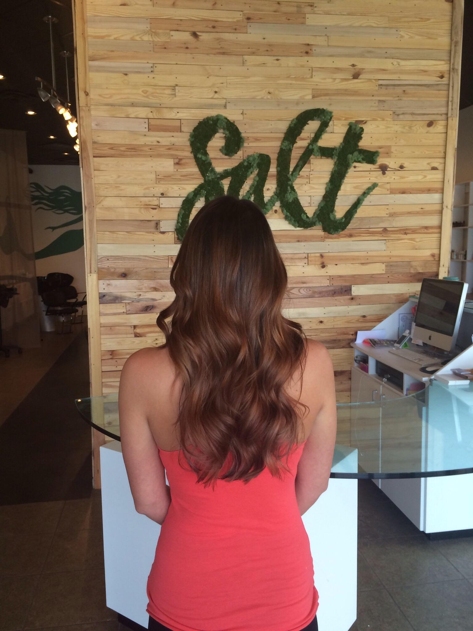 Long Hair Ombre Rich Brunette