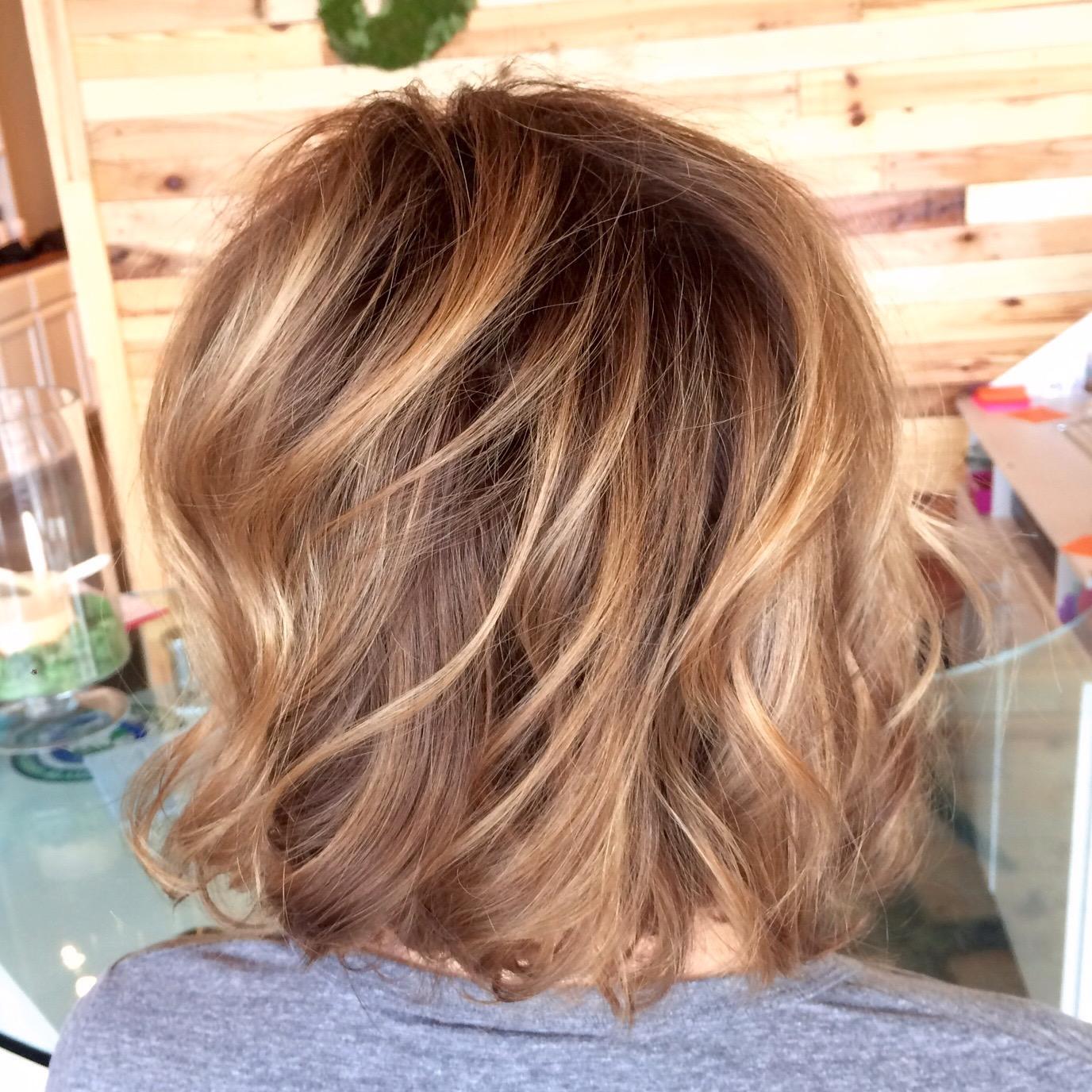 Short Hair Balayage Natural Highlights
